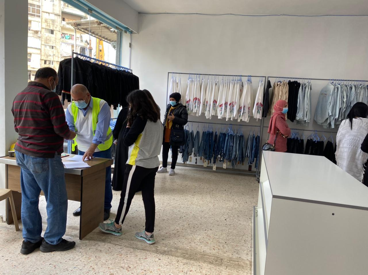 LLWB, Fabric Aid and Mission Joy distributed Levi's clothing